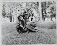 Charles M. Russell, Nancy C. Russell, and Friend