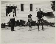 Charles M. Russell, Harry Carey, and a Child