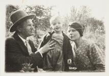 Charles M. Russell and Nancy C. Russell with Jack Russell