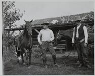 Charles M. Russell and Friend with Horses