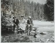 Charles M. Russell with Josephine Trigg and Unknown Man