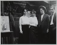 Charles M. Russell and Nancy C. Russell with Ella Ironside and Austin Russell