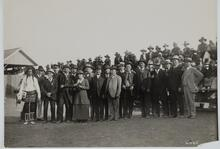 Charles M. Russell and Nancy C. Russell with Large Group