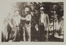 Charles M. Russell and Three Friends