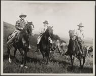 Three People on Horses