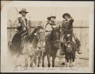 Three People on Horses