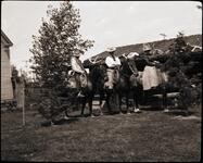 Nancy C. Russell and Friends on Horses