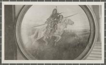 Painting of Indian Warrior on Horse