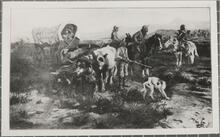 A Prairie Schooner Crossing the Plains