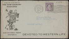 Envelope from The Cow-Country Magazine to Russell