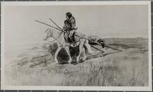 Indian Woman and Child on Horse
