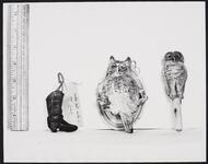 Cowboy Boot and Two Owls