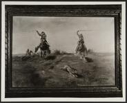 Cowboys Chasing a Coyote