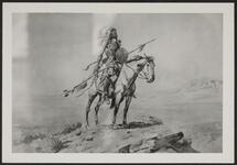 Mounted Indian Warrior with a Lance