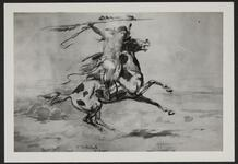 Mounted Indian Warrior Charging with a Lance