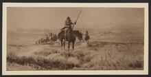 Mounted Indian Leading a Group