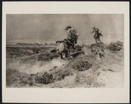 Cowboy Lassoing Wolf