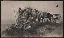 Indian Scouts on Mesa