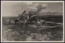 Mounted Indians on Hill
