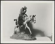 Cowpuncher on Pinto Horse