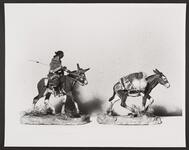 Pack Mule and Indian Woman on Mule