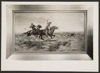 Men Roping a Wolf