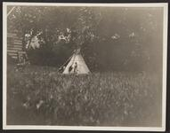 Miniature Indian with Tipi and a Horse