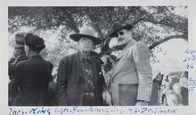 Homer Britzman with Frank M. King