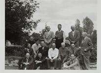 Homer Bitzman with Large Group of Men