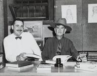 Homer Britzman and Unknown Man