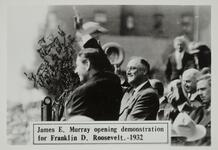 James E. Murray opening demonstration for Franklin D. Roosevelt.-1932
