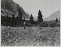 Unknown Man with Mountains