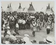 Large Gathering near Tipis