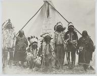 People in Front of Tipi