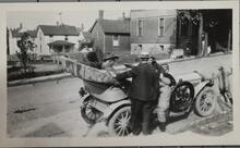 Buffalo Bill and Chief Iron Tail in Car