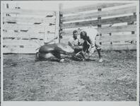 Men Branding Horse