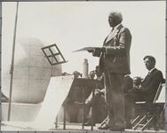Speaker at Dedication