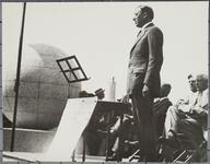 Man Speaking at Dedication