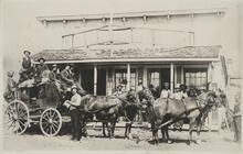 People on Horse-Drawn Wagon