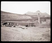 Hillside with Unknown Men and Donkeys