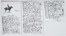 """""""Friend Beal"""" Letter from Charles Russell"""