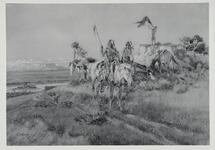 Three Native Americans on Horseback