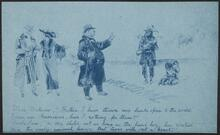 Illustrated Card depicting Native American Rights