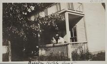Three People on Porch