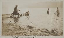 Four People in Lake McDonald, Montana