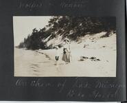Woman and Boy on Lake Shore