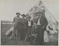 Charles M. Russell and Four Men