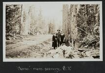 Frank Mehl and Two Women in Glacier Park