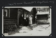 Nancy C. Russell and Charles M. Russell, Josephine Trigg, Mary DeYong and Woman at Bull Head Lodge