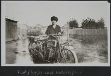 Emily Taylor and Motorcycle